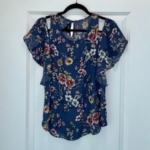 Sheer floral A.BYER blouse